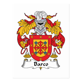 Barco Family Crest Postcards