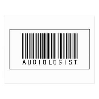 Barcode Audiologist Postcard