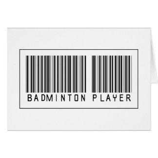 Barcode Badminton Player Card