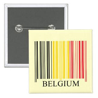 Barcode Belgium Flag Pin