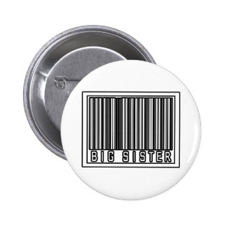 Barcode Big Sister Pinback Buttons