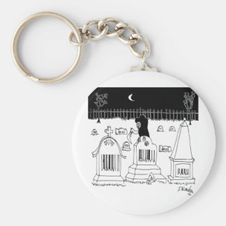 Barcode Cartoon 7019 Basic Round Button Keychain