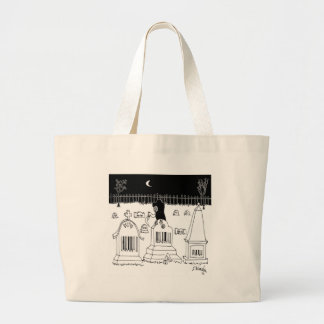 Barcode Cartoon 7019 Large Tote Bag