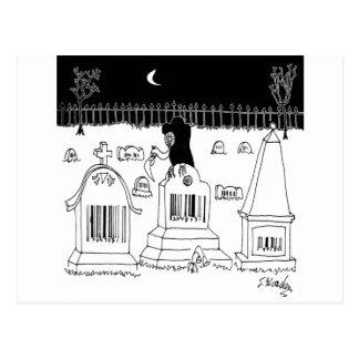 Barcode Cartoon 7019 Postcard