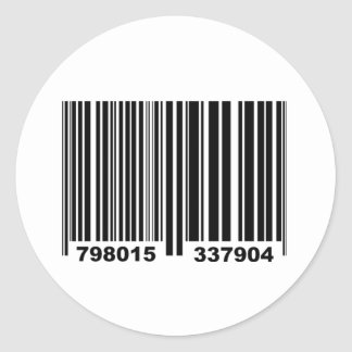 Barcode. Classic Round Sticker