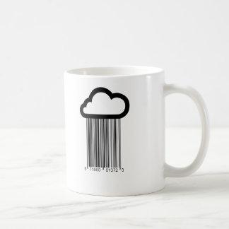 Barcode Cloud Illustration mug