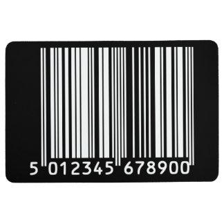Barcode designed floor mat