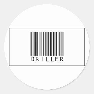 Barcode Driller Classic Round Sticker