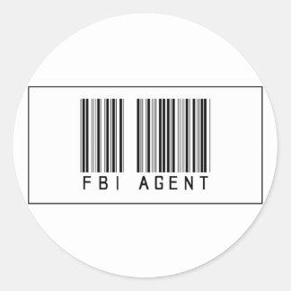 Barcode FBI Agent Classic Round Sticker