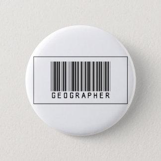 Barcode Geographer 2 Inch Round Button