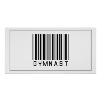 Barcode Gymnast Poster