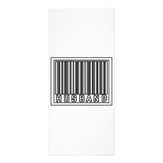 Barcode Husband Personalized Rack Card
