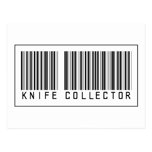 Barcode Knife Collector Postcards