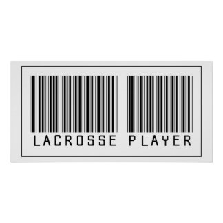 Barcode Lacrosse Player Poster