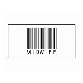 Barcode Midwife Postcard