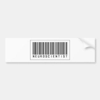 Barcode Neuroscientist Bumper Sticker