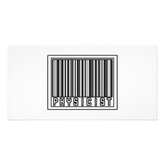 Barcode Physicist Personalized Photo Card