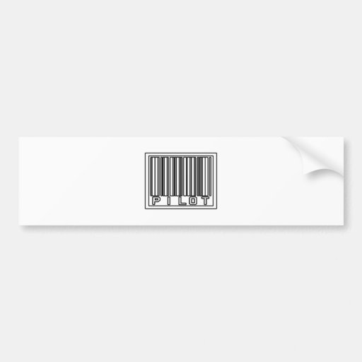 Barcode Pilot Bumper Sticker