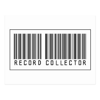 Barcode Record Collector Postcard