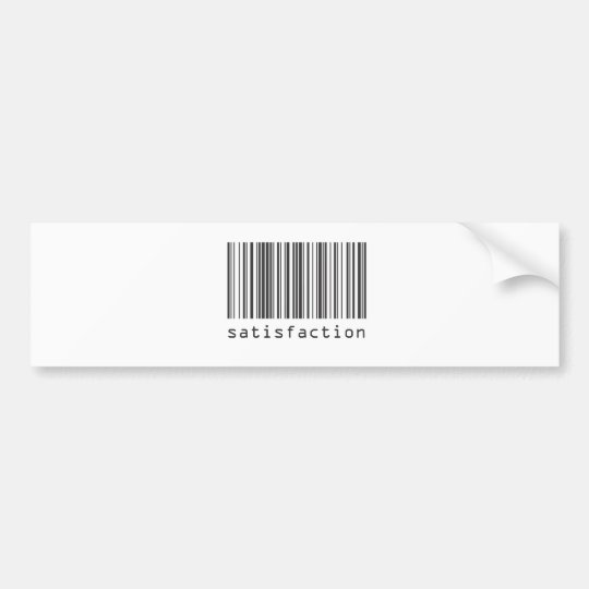 Barcode - Satisfaction Bumper Sticker