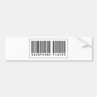 Barcode Saxophone Player Bumper Sticker