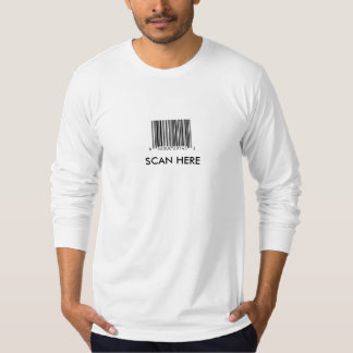 Barcode, SCAN HERE Mens Fitted T-Shirt