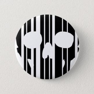 Barcode Skull 2 Inch Round Button