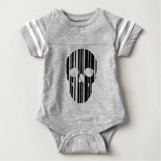 Barcode Skull Baby Bodysuit
