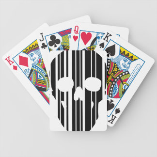 Barcode Skull Bicycle Playing Cards