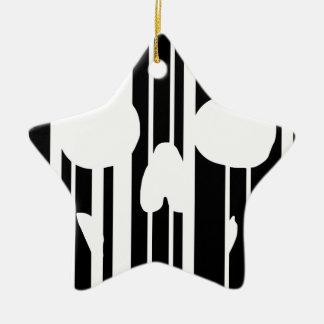 Barcode Skull Ceramic Ornament