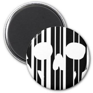 Barcode Skull Magnet