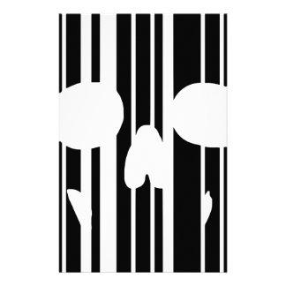 Barcode Skull Stationery