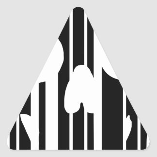 Barcode Skull Triangle Sticker