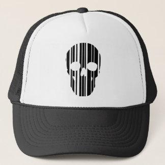 Barcode Skull Trucker Hat