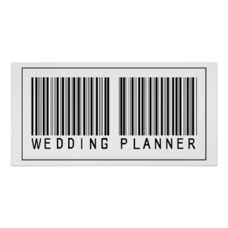 Barcode Wedding Planner Poster