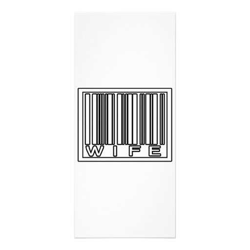 Barcode Wife Customized Rack Card