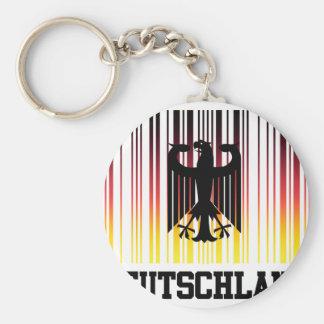 barcodeGermany1 Basic Round Button Keychain
