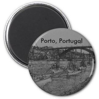 Barcos, Porto, Portugal 2 Inch Round Magnet