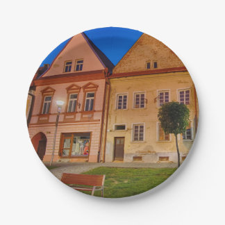 Bardejov is a city of Slovakia Paper Plate