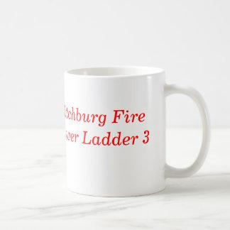 BARE BONES, Fitchburg FireTower Ladder 3 Basic White Mug