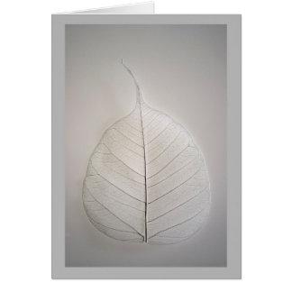 Bare bones winter leaf greeting card