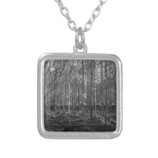 bare forestry silver plated necklace
