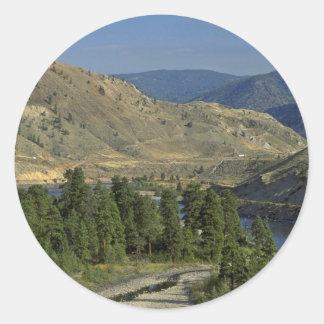 Bare Mountains Classic Round Sticker