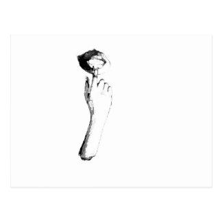 Bare Shot - Digital Art Stencil Postcard