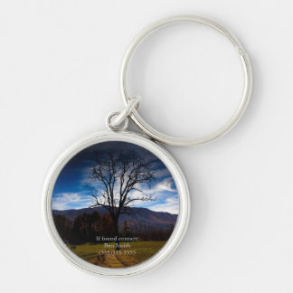 Bare Tree and Blue Sky in Autumn Personalized Keychain