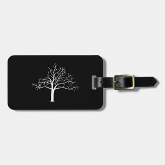 Bare Tree Design Luggage Tag