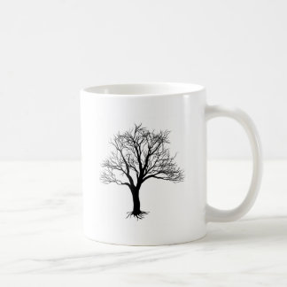 Bare tree silhouette coffee mug