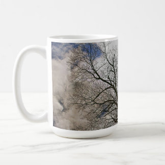 Bare Trees & Clouded Sky Nature Design Coffee Mug