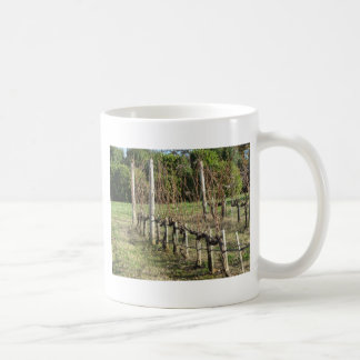 Bare vineyard field in winter . Tuscany, Italy Coffee Mug