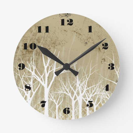 Bare Winter Trees Clock